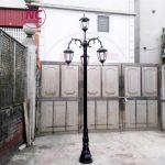 Bền đẹp với 7 cột đèn sân vườn đúc 1 2 3 4 5 bóng giá rẻ 2021