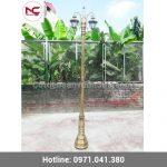Tìm hiểu cột đèn trang trí sân vườn bằng nhôm và gang
