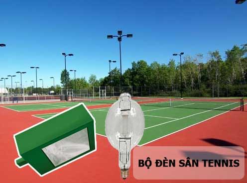 Bộ đèn chiếu sáng lắp đặt với cột NC-12 ( bộ đèn chiếu sáng sân tennis)