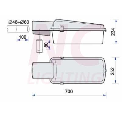 Chi tiết cấu tạo đèn cao áp INDU