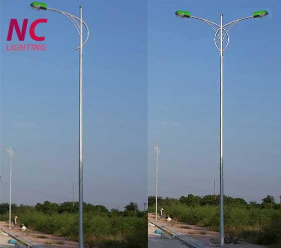Hình ảnh mẫu cột đèn cao áp NC -01