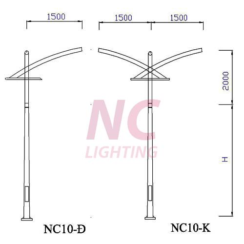 Cột đèn chiếu sáng đường phố NC-10
