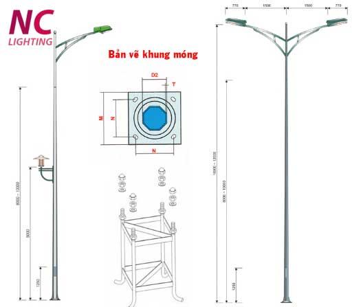 Cột đèn chiếu sáng đường phố NC-02