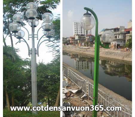 Cột đèn chiếu sáng sân vườn thép