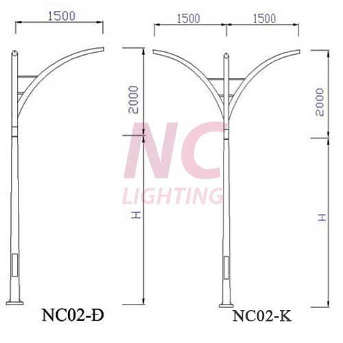 Cột đèn đường chiếu sáng NC-02