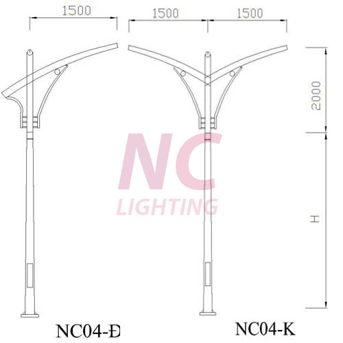 Cột đèn đường cao áp NC-04