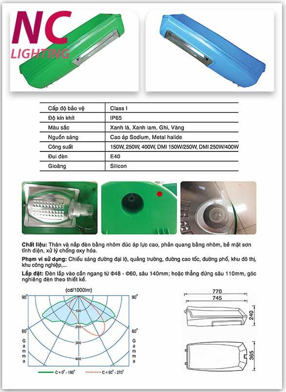 Chi tiết cấu tạo và đặc điểm đèn đường cao áp RAINBOW