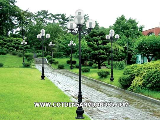 Đèn trang trí sân vườn bóng cầu sọc