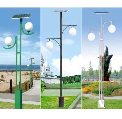 Giá cột đèn sân vườn thân thép