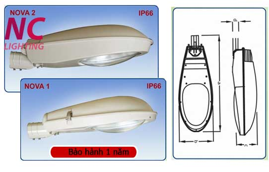 Cấu tạo chi tiết đèn cao áp NOVA