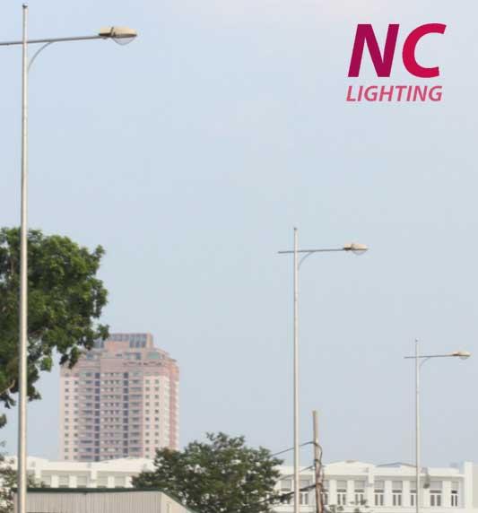 Lắp đặt đèn cao áp chiếu sáng đường phố
