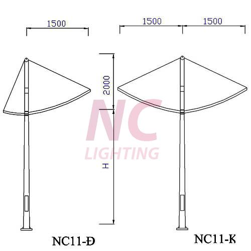 Trụ đèn đường cao áp NC -11