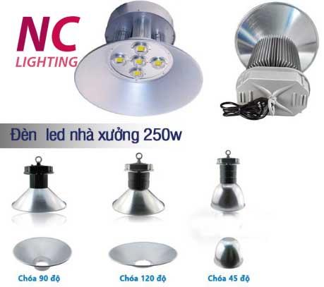 Báo giá đèn led chiếu sáng nhà xưởng 250W