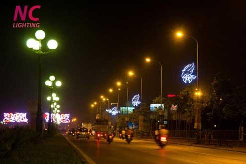 Ứng dụng dây lên đèn trong chiếu sáng đường phố