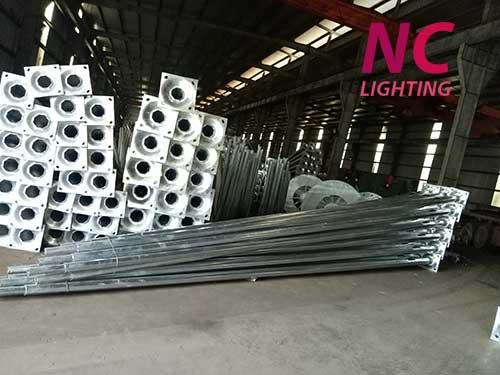 Sản xuất cột đèn chiếu sáng tại xưởng