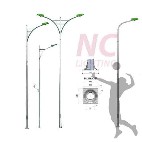 Cột đèn sân bóng chuyền